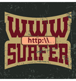 WWW surfer t shirt typography graphics vector image vector image