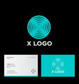 x logo circle interference diffraction magnetic vector image