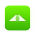 ziggurat in chichen itza icon digital green vector image vector image