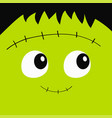 zombie frankenstein monster square face icon cute vector image