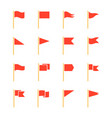 pennants and flags set vector image
