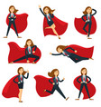superwoman or super woman office manager in vector image