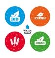 Natural fresh Bio food icons vector image