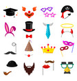photo party mask set vector image