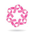 Pink Star Logo vector image