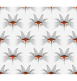 3D Seamless Paper Flower Pattern vector image vector image