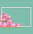 background with magnolia for horizontal design vector image vector image