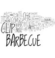 barbeque clip art text word cloud concept vector image vector image