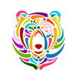 bear face sketch for your design vector image