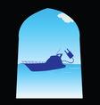 boat color vector image vector image