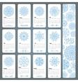 Calendar 2016Snowflakes shapesmandala vector image vector image