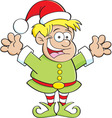 Cartoon elf child vector image