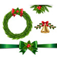 christmas set isolated vector image