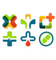 colorful abstract med logo medicine cross vector image