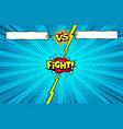 comic book versus background superhero vector image vector image