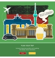 concept travel or studying german vector image vector image
