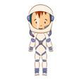 cosmonaut cartoon character vector image vector image