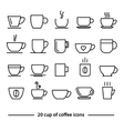cup coffee icons vector image vector image