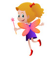 cute fairy with orange wings vector image vector image
