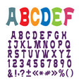 cute funny alphabet lettersnumbers and vector image