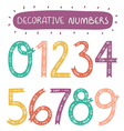 Decorative numbers vector image vector image