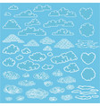 doodle elegant white clouds collection vector image