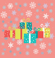 drawings for christmas image of gifts on the vector image
