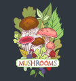 edible mushroom cover vector image vector image