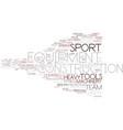 equipment word cloud concept vector image vector image