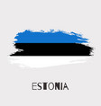 estonia watercolor national country flag icon vector image vector image