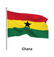 flag republic ghana vector image vector image