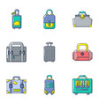 freight icons set cartoon style vector image vector image