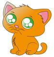 ginger kitten vector image vector image