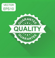guarantee quality rubber stamp icon business vector image vector image