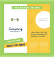gym rod company brochure template busienss vector image vector image