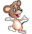 Happy Smiling Mouse vector image vector image