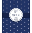 Holiday card Happy New Year 2015 vector image vector image