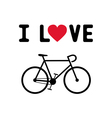 I love bicycle1 vector image