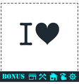 I love icon flat vector image