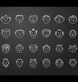 icon set 24 mans faces vector image vector image