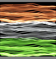 independence day of india of lines background vector image vector image