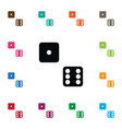 isolated dice icon die element can be used vector image vector image