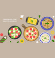 italian cuisine caesar salad vector image vector image