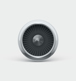 Jet engine front view 3d object isolated on white vector image vector image