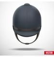 Jockey helmet for horseriding athlete vector image