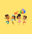 joyous african-american boys and girls with the vector image vector image