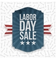 Labor Day Sale paper Label vector image vector image