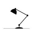 lamp in black vector image vector image