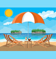landscape palm tree on beach vector image vector image