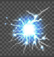 lightning on transparent background vector image